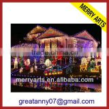 Giant outdoor programmable permanent decorative outfit led christmas lights made in china factory