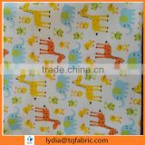 soft handfeeling 100% cotton deer printed double-sided flannel fabric for baby pajamas