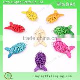 Hot sale decorative colorful Wicker goldfish /Christmas tree decorations /Wicker gift crafts