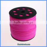 Wholesale 2.7mm Bright Fuchsia Faux Flat Suede Cords For Jewelry Making SC-1044