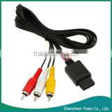 Wholesale AV TV Video Cord Cable For N64 Game Cube 6FT