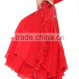 SWEGAL fashion red swing dress,belly dance skirt,wholesale belly dance costumes SGBDS13015