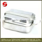Hot wholesale military stainless steel lunch box with compartment/ 3pcs canteen box with compartment/ bento lunch box