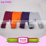 Best Selling Icing Cotton Ruffle Pants Fall Chic Baby Leggings Wholesale Triple Ruffle Legging
