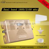 ATNJ wholesale dual band global frequency1800&2100mhz 2g 3g 4G mobile signal booster repeater                                                                         Quality Choice