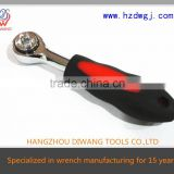 Hot Sale Stubby Rubber-handle Ratchet handle Wrench