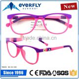 2015 New collection tr90 kids optical frames fashion muti-color children eyewear glasses