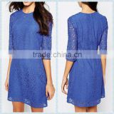 women's fashion designer one piece dress, latest dress designs for ladies blue colour dress
