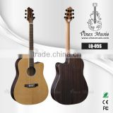 Solid cedar top acoustic guitar china muaic instruments akustik gguitar