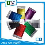 Colored decoration wholesale custom foil poly matte metallic bubble mailer