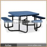 New style camping outdoor steel picnic table with bench