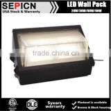 UL 36w Wall Pack for Outdoor Parking Place DLC LED Outdoor Wall Lights with Photocell