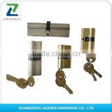 brass plating finishing length 40-120mm 6pins mortise euro high security door lock cylinder electric