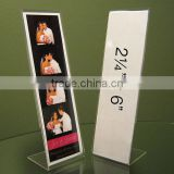 transparent acrylic photo booth frame/photo strip frames
