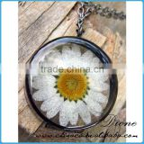 Sunflower pressed real flower resin cabochons, flat back resins cabochon, pressed flower jewelry