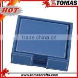 Factory custom wholesale square leather blank coaster