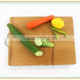 Organic Basic Traditional Easy Carry Hang Stainless Steel Handle Kitchen Butcher Bamboo Cutting Board Chopping Block