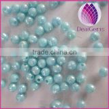 wholesale 6mm Bulk chunky acrylic faceted AB earth ball beads