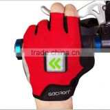 Fashionable half finger hight quality breathable palm padded mountain bike bicycle gloves
