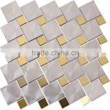 foshan stainless steel metal mosaic Backsplash Kitchen living room hall