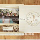 2016 best wedding gift wooden usb flash drive with box, custom natural woode usb flash drive, wholesale price usb flash 16GB