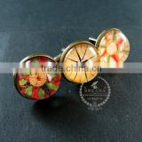 20mm vintage style antiqued bronze compass art collage glass cabochon round cufflinks fashion wedding cuff link 6600045