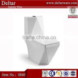 Middle East wc toilet , square model s trap 250mm one piece toilet brand bathroom toilet