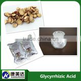 Cosmetic ingredients Licorice root extract powder 98% Glycyrrhizic acid