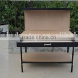 high quality wooden & stainless steel work bench