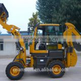 WZ45-16 4x4 80HP backhoe mini excavator with quick attach bucket
