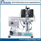 Multi-function Desktop Pneumatic Screw Capping machine for trigger pump round caps rolls sealing type