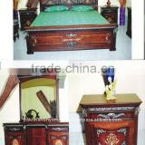 Wooden Antique style bed Set, Wooden Bed Set, Rosewood Beds