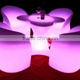 Interactive rechargeable cub table disco cocktail chair