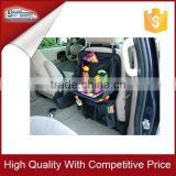 Car back seat organizer with tray for kids