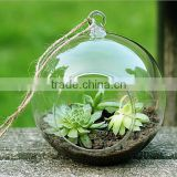 Modern Hanging Clear Round Crystal Glass Vase Flower Balls Terrarium Vases For Wedding Decoration Dia 8 cm