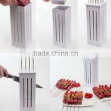 16 Holes Skewers Food Slicer Brochette Grill Kebab Maker Box BBQ Grill Kit Tool