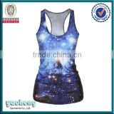Newest women's style sublimation stringer tank top wholesale tank tops in bulk with 3D printing