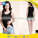 Fashion girl black vest top wholesale custom tank top women