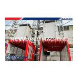 Twin Cage Construction Building Material Hoist Elevator , Vertical Cargo Hoist 33m / min