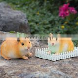 2pcs Miniature Cute Hamsters Resin Craft Mini Landscape Ornament Bonsai Dollhouse