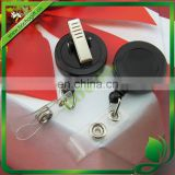 plastic reels with Rotatable clip, badge reel with swivel clip, plastic fishing reel