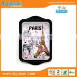 Logoson Personalized Paris Souvenir Custom Metal Plate As Your Request Souvenir Metal Plate