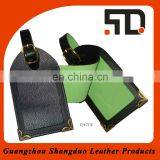 Excellect Quality Genuine Leather Baggage Tag Corner With Metal