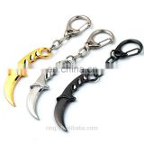CSGO Karambit Model Knife Weapon Key Chain Counter Strike CS GO Key Holder Charm Cosplay Jewelry