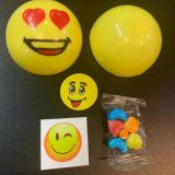 Funny Emojj Ball Candy Sticker Toys with Eraser