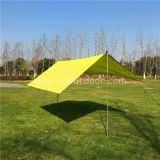 Camping Fly Tarp Yelllow Color 3X3M Silver Coated  Sun Shade Ultralight Backpacking Tarp