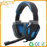 Fancy music stereo mega bass vibration fashion pc gaming headset with mic