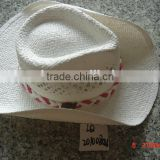 Spring and Summer sun cowboy hat mat straw cheap crafting for wholesale