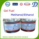 ethanol/methanol flame gel fuel for BBQ