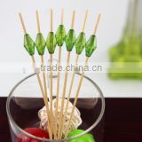 Safe Bamboo disposable fruit pick skewer stick for party ,BBQ